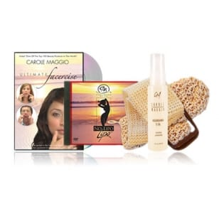 Facercise & No Lipo DVD(NTSC for US, Canada, Japan) + Sisal Louffas + Nourishing E-Oil-0