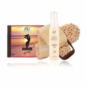 No Lipo Lipo DVD (NTSC for US, Canada, Japan) & Sisal Louffas + NOURISHING E OIL-0